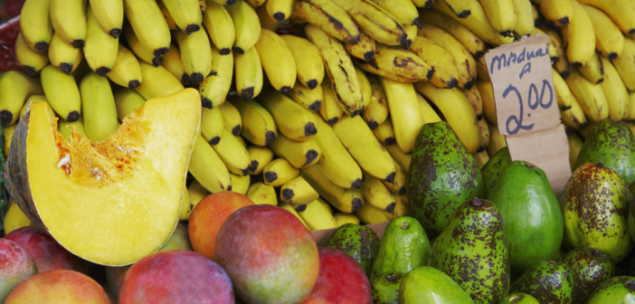 Fruit market stall