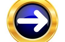 Right arrow icon. Internet button on white background.