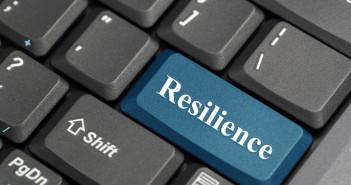 Blue resilience key on keyboard