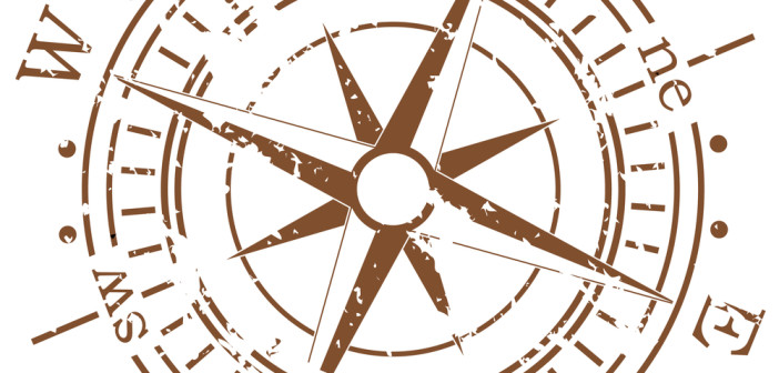 Picture of a compass - north, south, east and west