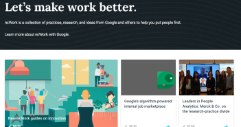 Screenshot of Google's reimagining work homepage