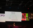 Rachel Botsman on stage at the CIPD conference 2018