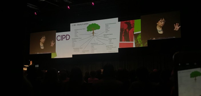 Dr Mee-Yan Cheung-Judge on stage at the CIPD conference 2018