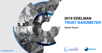 Cover of the Edelman Trust Barometer report