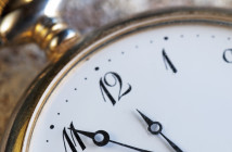 Old-fashioned clock face