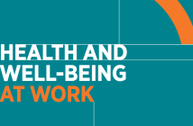 Cover shot of CIPD research report Health and well-being at work 2019