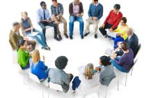 Group of people brainstorming