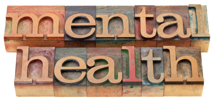 The words Mental health