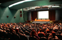 Lecture in auditorium