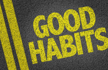 Words good habits on a road