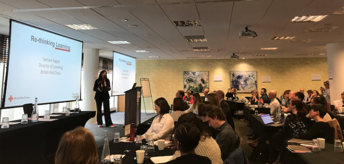 Satnam Sagoo talking at the Charity Learning Consortium 2019
