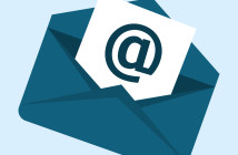 Email marketing design over white background,