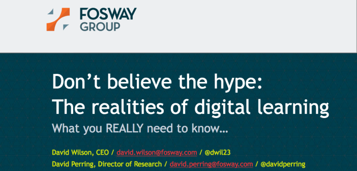 Cover picture of Fosway Digital Realities Research 2020