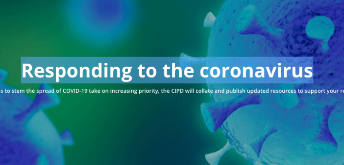 CIPD Corona virus hub page