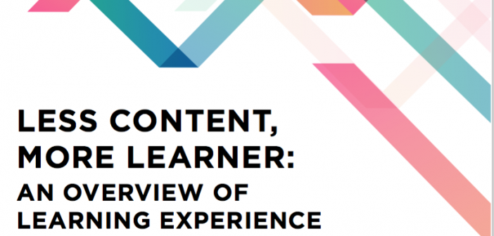 Cover of report Less content, more learner: an overview of learning experience design