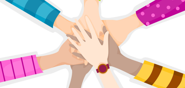 Illustratiion of hands being held together