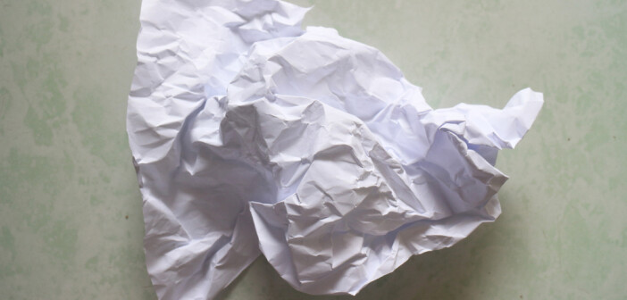 Crushed piece of paper