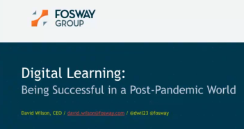 Opening slide of talk on Digital learning Being successful in a post pandemic world