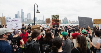 Black Lives Matter Peaceful Protest in Hoboken, New Jersey