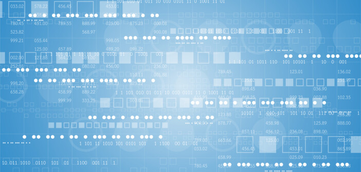 Graphic of data on a screen