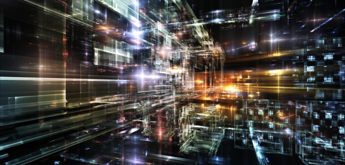 Fururistic cityscape image